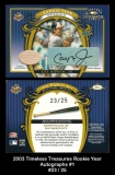 2003 Timeless Treasures Rookie Year Autographs #1