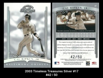 2003 Timeless Treasures Silver #17