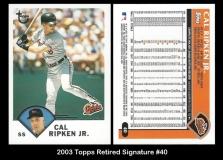 2003 Topps Retired Signature #40