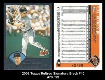 2003 Topps Retired Signature Black #40