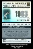 2003 Topps Tribute World Series Tribute Relics #CR