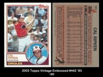 2003 Topps Vintage Embossed #442 '83