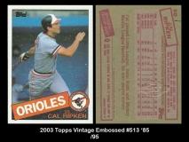 2003 Topps Vintage Embossed #513 '85