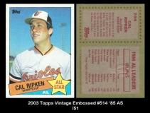 2003 Topps Vintage Embossed #514 '85 AS
