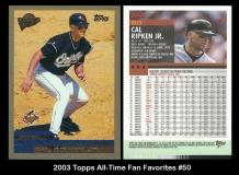 2003 Topps All-Time Fan Favorites #50