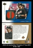 2003 UD Authentics Threads of Time #CR