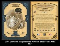 2004 Diamond Kings Framed Platinum Black Sepia #160
