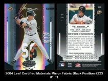 2004 Leaf Certified Materials Mirror Fabric Black Position #223