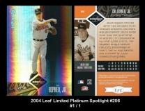 2004 Leaf Limited Platinum Spotlight #206