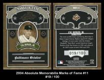 2004 Absolute Memorabilia Marks of Fame #11