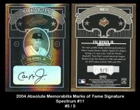 2004 Absolute Memorabilia Marks of Fame Signature Spectrum #11