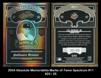 2004 Absolute Memorabilia Marks of Fame Spectrum #11