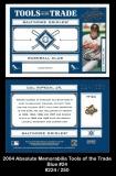 2004 Absolute Memorabilia Tools of the Trade Blue #24