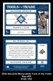2004 Absolute Memorabilia Tools of the Trade Blue #25