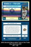 2004 Absolute Memorabilia Tools of the Trade Blue Spectrum #23