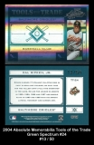 2004 Absolute Memorabilia Tools of the Trade Green Spectrum #24