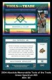 2004 Absolute Memorabilia Tools of the Trade Green Spectrum #25
