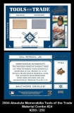 2004 Absolute Memorabilia Tools of the Trade Material Combo #24
