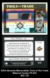 2004 Absolute Memorabilia Tools of the Trade Material Combo PS #23