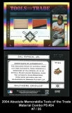 2004 Absolute Memorabilia Tools of the Trade Material Combo PS #24
