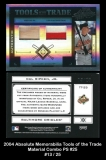 2004 Absolute Memorabilia Tools of the Trade Material Combo PS #25