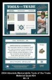 2004 Absolute Memorabilia Tools of the Trade Material Quad #24