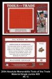 2004 Absolute Memorabilia Tools of the Trade Material Single Jumbo #25