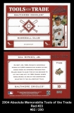 2004 Absolute Memorabilia Tools of the Trade Red #23