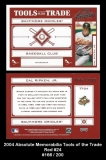 2004 Absolute Memorabilia Tools of the Trade Red #24