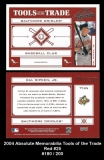 2004 Absolute Memorabilia Tools of the Trade Red #25