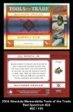2004 Absolute Memorabilia Tools of the Trade Red Spectrum #24