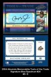 2004 Absolute Memorabilia Tools of the Trade Signature Blue Spectrum #24