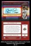 2004 Absolute Memorabilia Tools of the Trade Signature Red Spectrum #23