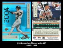 2004 Absolute Memorabilia #27
