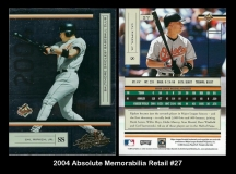 2004 Absolute Memorabilia Retail #27