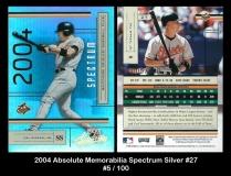 2004 Absolute Memorabilia Spectrum Silver #27