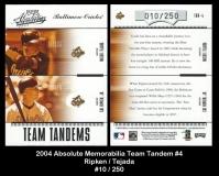 2004 Absolute Memorabilia Team Tandem #4