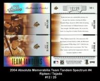 2004 Absolute Memorabilia Team Tandem Spectrum #4