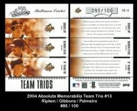 2004 Absolute Memorabilia Team Trio #13