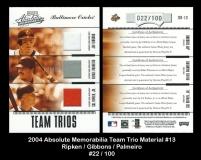 2004 Absolute Memorabilia Team Trio Material #13