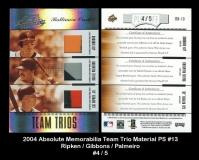 2004 Absolute Memorabilia Team Trio Material PS #13