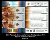 2004 Absolute Memorabilia Team Trio Spectrum #13