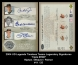 2004 UD Legends Timeless Teams Legendary Signatures Triple #RWP
