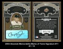 2004 Absolute Memorabilia Marks of Fame Signature #11