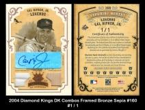 2004 Diamond Kings DK Combos Framed Bronze Sepia #160