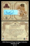 2004 Diamond Kings Heritage Collection Signatures #2