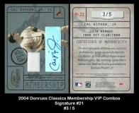 2004 Donruss Classics Membership VIP Combos Signature #21