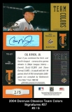2004 Donruss Classics Team Colors Signatures #27