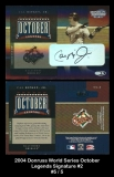 2004 Donruss World Series October Legends Signature #2