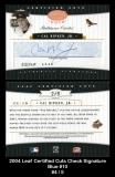 2004 Leaf Certified Cuts Check Signature Blue #10